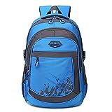 """5 ALL Rucksack 3 Fächer Groß 15,6""""Laptop Schulrucksack Daypack Schulranzen für Damen Herren Jungen Mädchen Kinder (Dunkel Blau)"""