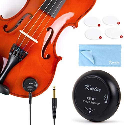 Kmise Piezo-Tonabnehmer für Ukulele Banjo Banjolele Violine Akustik Gitarre Cello Kalimba (KP-01)