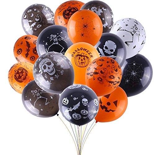 Frmarche 50PCS Halloween Globos de Látex para Halloween Party Fiesta Bar Decoración