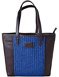 Wabasta Women's Handbag Brown And Blue