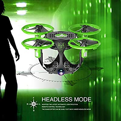Drone With Camera Mini Quadcopter Portable Foldable Drone HD Shooting Headless Mode Anti-interference Protection APP Control ( Color : Green )