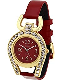 Dice Analogue Red Dial Women's Watch-Supg-M019-5251