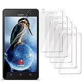 moex 2X Huawei G Play Mini | Schutzfolie Klar Display Schutz [Crystal-Clear] Screen Protector Bildschirm Handy-Folie Dünn Displayschutz-Folie für Huawei G Play Mini/Honor 4c Displayfolie