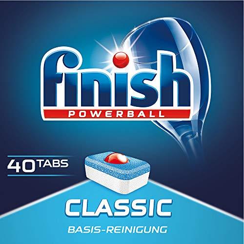 Finish Classic Spülmaschinentabs, Geschirrspültabs für Basis Reinigung, Geschirrspülmittel Tabs, 40 Tabs