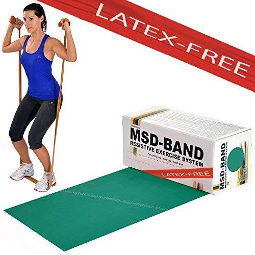 Msd fascia latex free forte 5,5 mt allenamento intermedio banda elastica verde