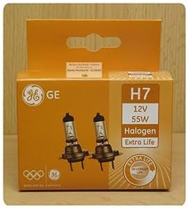 ge general electric h7 12v 55w halogen extra life 2er set. Black Bedroom Furniture Sets. Home Design Ideas