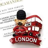 Bella 3D Magneti per FrigoriferoCalamite da Frigo in Resina Viaggio Souvenir del Modo Regno Unito UK Londra Autobus Orso Fridge Magnet Sticker