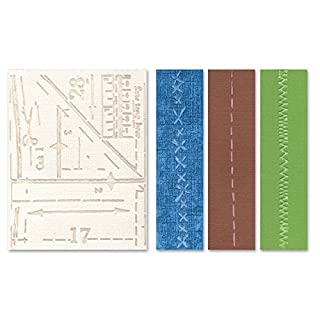 "Sizzix Embossing-Folder ""Pattern and Stitches Set Texture Fades"", Grau, 4 Stück"