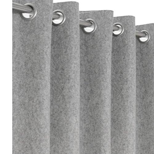 Wollfilz Vorhänge, hellgrau fühlte Vorhang Panel, Custom Fenster Vorhang, Customized Tür Vorhang (Ein Panel-grau-vorhänge)