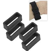 Brrnoo 4 cinturini di ricambio in silicone con fibbia di sicurezza per orologio, 20 mm