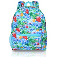 Lilo and Stitch Bag Backpack, Back to School Disney Gifts, Blue Rucksack for Girls, Teens, Women Featuring All-Over Tropical Stitch Print for School Or Travel