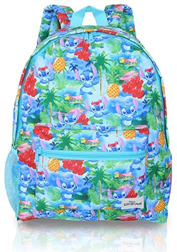 Kinder Rucksack Kinder Von Lilo Und Stitch | Schulmädchen Rucksack Blau Disney | Kinderrucksack Jungen | Rucksack Kinder Mädchen Für Den Strand, Sommer Oder Für Die Schule | Kindergartenrucksack