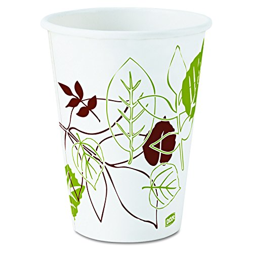 Dixie - Hot Cups, Poly Lined, 12oz., 25/PK, Pathways/White, Sold as 1 Package, DXE2342WSPK - Georgia Pacific Dixie Food-service