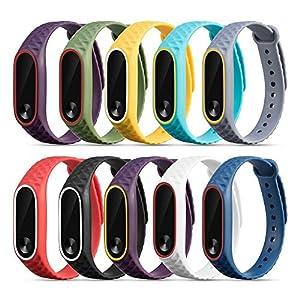 10PC Pulsera de reloj de pulsera de silicona de repuesto Correa de muñeca de silicona Xinan Para Xiaomi Mi Band 2 de Xinxinshidai