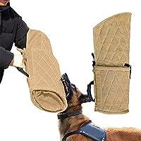 Dog Bite Sleeves Tugs, Protection d'entraînement Dog Bite Sleeve, Convient aux Deux Manches, Jouet de Morsure Small Dogs Training, pour Les Mains Gauche et Droite