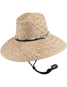 Sombrero playero de paja de junco Lifeguard de Dorfman Pacific - Kaki
