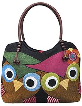 Eule Eulen Tasche Handtasche Henkeltasche ***EULENMOTIV UND VERSPIELTE ACCESSOIRES*** Shopper Schultertasche Eulenmotiv...