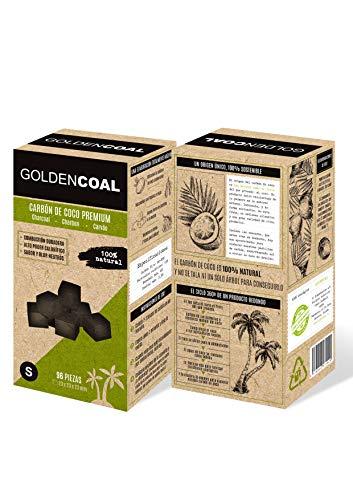 GOLDEN COAL Charbon DE Coco Taille S (23mm) Shisha Hookah Coal