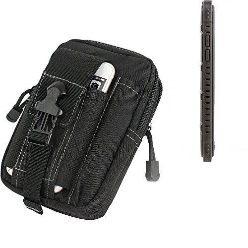 K-S-Trade für Gürtel Tasche Cyrus CS 35 Gürteltasche Schutzhülle Handy Hülle Smartphone Outdoor Handyhülle schwarz Zusatzfächer