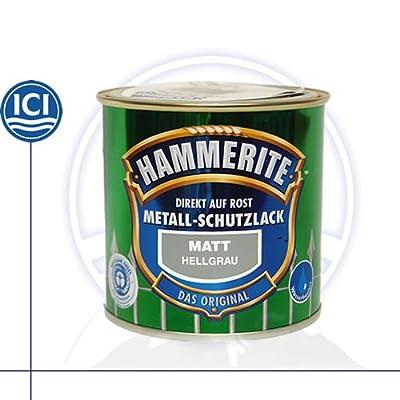 0,25 Liter Hammerite Metallschutzlack hellgrau matt von Hammerite - TapetenShop
