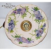 Lampadario diametro 30 centimetri Linea Frutti Uva Ceramica Le Ceramiche