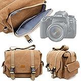 DURAGADGET Borsa Professionale Canvas Per Fotocamera Digitale Canon EOS 7 | EOS 70D | EOS 800D | EOS 80D | EOS 77D | EOS 77D - Con Tracolla Regolabile E Numerosi Scomparti