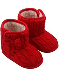 Auxma Bebé niña Bowknot Soft Sole Zapatos Invierno cálido Calzado Botas