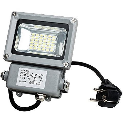 Faro Faretto Faro da Esterno a LED 20W faro IP65bianco freddo