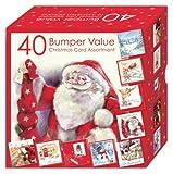 Weihnachtskarten-Set HSX2154, 10 verschiedene Motive, Box mit 40 Karten