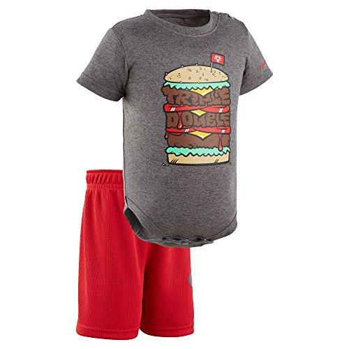Under Armour Jungen Short Sleeve Bodysuit and Short Set Schwangerschaftsbluse - - (Under Armour Jungen Short Set)