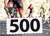 500 Startnummern Rennrad, Papier classic-race, Format 20 x 14,5 cm (ca. DIN A5), nummeriert von Nummer 1