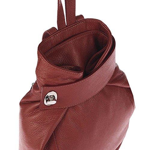 italyshop24_com, Borsa a zainetto donna rosso Bordeaux ca.: 28x33x14 cm (BxHxT) rosso scuro