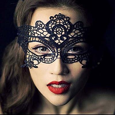 Lady-sexy Party-Spitze-Maske , white double line