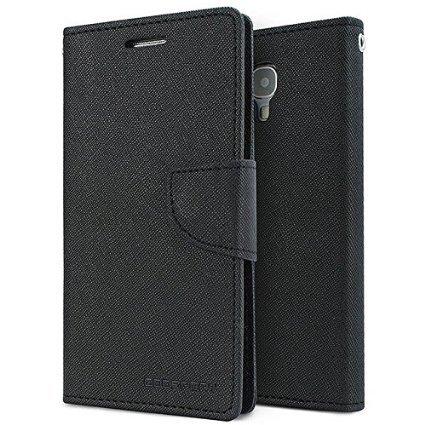 MVE Mercury Goospery FANCY Diary Card Wallet CASE Flip Cover for SAMSUNG GALAXY MEGA 5.8 BLACK BY MVE