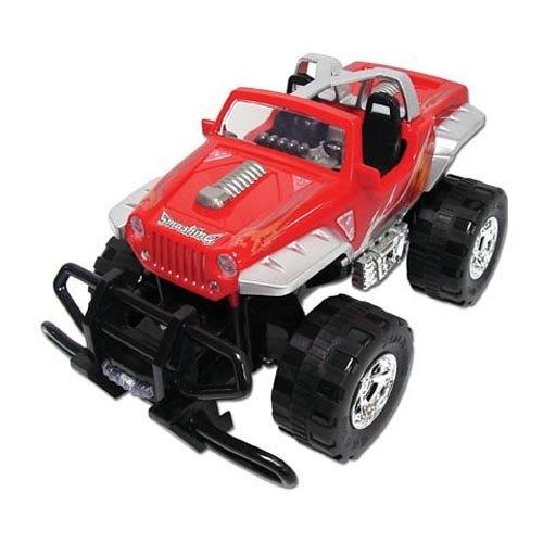 Team Power Extreme fuoristrada Jeep 28cm in topless Rosso con motore a frizione giocattolo auto