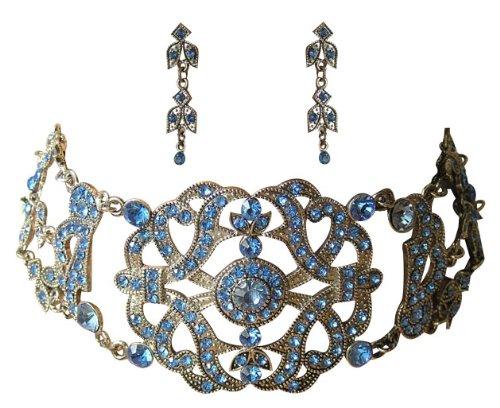 Trachtenschmuck Kristall Kropfkette – Dirndl Collier Set – Kette im viktorianischen Stil...