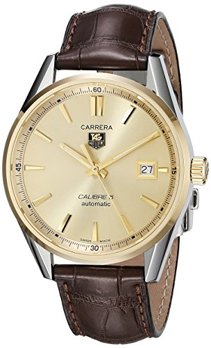 Tag Heuer uomo WAR215A.FC6181analogico display svizzero orologio automatico marrone