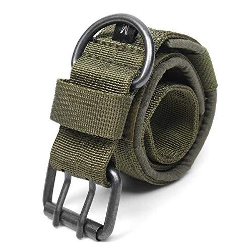 1000D M/L/XL Nylon Hundehalsband Geschirre Führt Einstellbares Training Hundehalsband Mit Metall D Ring Schnalle (Color : Green, Size : M) -