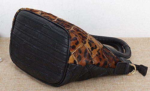 Keshi Leder neuer Stil Damen Handtaschen, Hobo-Bags, Schultertaschen, Beutel, Beuteltaschen, Trend-Bags, Velours, Veloursleder, Wildleder, Tasche Mehrfarbig 1