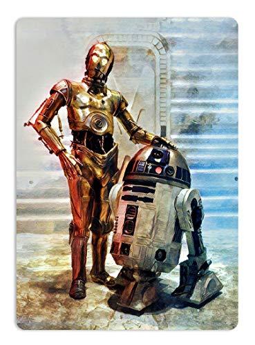 KODY HYDE Metall Poster - Painted R2D2+C3PO - Vintage, gebraucht gebraucht kaufen  Wird an jeden Ort in Deutschland