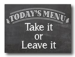 Nourish Todays Menu Fridge Magnet