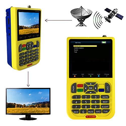 """GT MEDIA V8 Satelliten Finder Satfinder Satellitenfinder FTA DVB-S2 TV Signal Empfänger, HD 1080P 3,5""""LCD Eingebaute 3000mAh Batterie"""