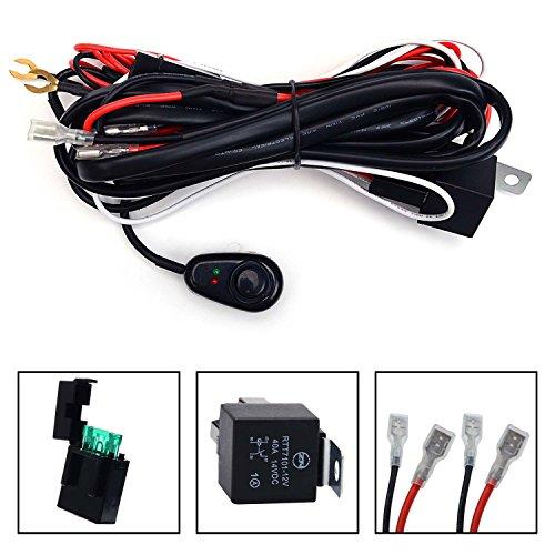 kawell-universal-2-led-barre-de-lumiere-kit-de-faisceau-de-cables-avec-relais-de-fusibles-interrupte