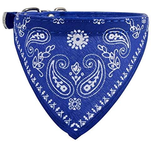 WOO LANDO Katzenhalsband, modisch-Elegantes blau, einfaches Anlegen und dezentes modisches Accessoire für Haustiere wie Katzen und Junge Hundewelpen - für Drinnen& Zuhause Aber auch Draußen & Outdoor