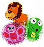 3 Kühlpads Löwe Frosch Schmetterling Wärmepad mehrfach Kompresse Kühlkissen Kinder wärmen kühlen (Bild: Amazon.de)
