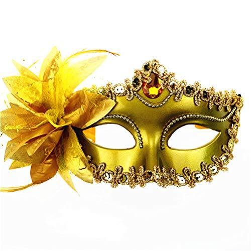 asquerade Augenmaske Sexy Charm Maske aus Spitze Party Ball Masquerade Fancy Kleid Venezianischer Stil Gold ()