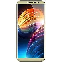 "CUBOT X18 - 5.7"" 4G Smartphone Libre 18:9 Pantalla Curva (3GB RAM+32GB ROM, Android 7.0, 16.0MP Cámara Trasera, 13.0MP Cámara Frontal, Lector de Huellas, Dual Sim), oro"