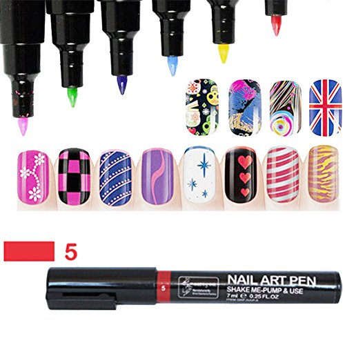 16 Farben Nail Art Pen Nagellack Stift 3D Nail Art Dekoration DIY Nagel-Design Profi Nagellack Stift-Set Molie (Nail Pen)