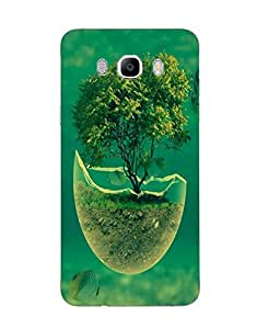 Case Cover Tree Printed Green Soft Silicon Back Cover For Samsung Galaxy J7 2016