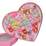 #9: Infinxt Cute Cartoon Set of 36 Finger Rings for Girls Gifting